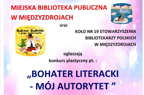 "Konkurs plastyczny pt. ""Bohater literacki – mój autorytet"" 2021"