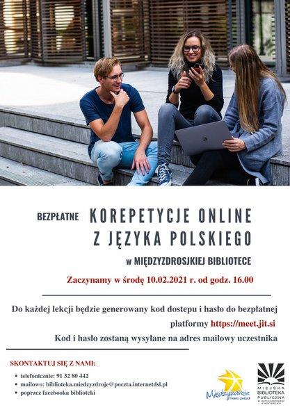 Bezpłatne korepetycje online z języka polskiego w międzyzdrojskiej bibliotece