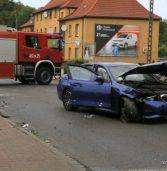 Zderzenie dwóch samochodów osobowych w Kamieniu Pomorskim