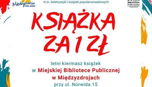 """Letni kiermasz """"Książka za 1 zł"""""""