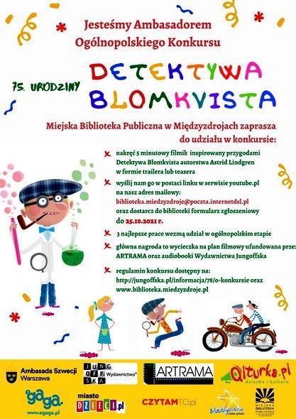 """Ogólnopolski Konkurs """"75. urodziny Detektywa Blomkvista"""""""