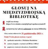 """""""Przerwa na wspólne czytanie"""" – głosuj na międzyzdrojską bibliotekę!"""